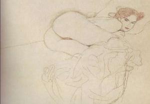 mujer desnuda recostada con las piernas dobladas
