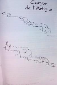 topográfico canyon de 'Artigue