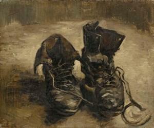 «Un par de botas -oleo sobre lienzo 37,5x45- Vincent Van Gogh (1886)»